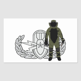 EOD Senior Bomb Suit Rectangular Sticker