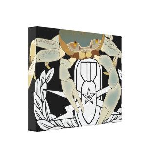EOD Senior Crab Stretched Canvas Prints