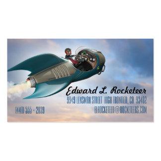 Eophona Retro Rocket Business Cards