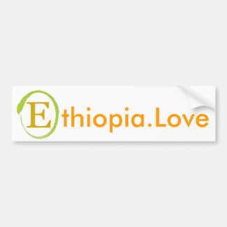 EOR Ethiopia Love Bumper Sticker