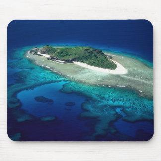 Eori Island, Mamanuca Islands, Fiji - aerial Mouse Mat