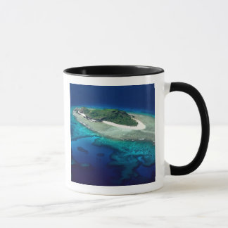 Eori Island, Mamanuca Islands, Fiji - aerial Mug