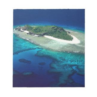 Eori Island, Mamanuca Islands, Fiji - aerial Notepads