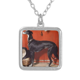 Eos, A Favorite Greyhound of Prince Albert Square Pendant Necklace