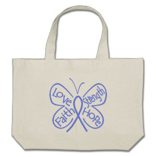 Eosinophilic Disorders Butterfly Inspiring Words Tote Bags