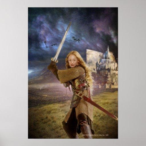 Eowyn Raises Sword Poster