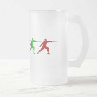 Epee Fencers Fencing Mens Athlete Womens Sports Frosted Glass Mug
