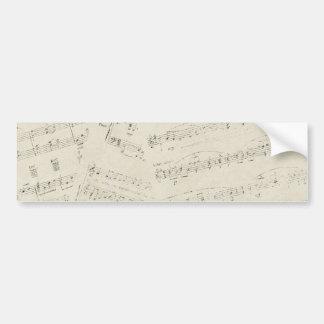 ephemera07 MUSIC SHEETS NOTES SONGS MELODY BACKGRO Bumper Sticker