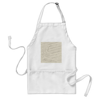 ephemera07 MUSIC SHEETS NOTES SONGS MELODY BACKGRO Standard Apron
