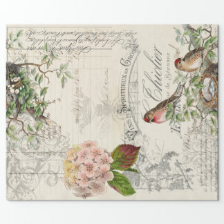 Ephemera Bird Decoupage 60lb paper