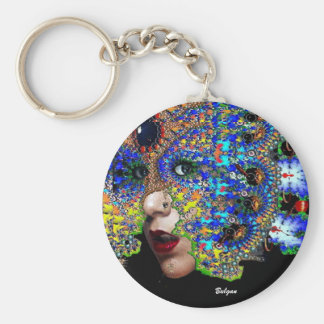 EPHEMERAL BASIC ROUND BUTTON KEY RING