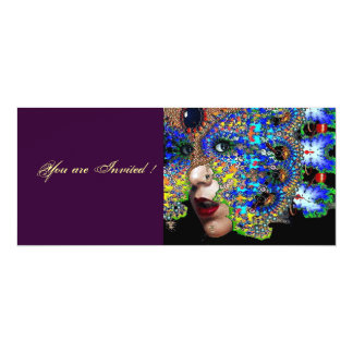 EPHEMERAL Halloween Masquerade Ball 10 Cm X 24 Cm Invitation Card