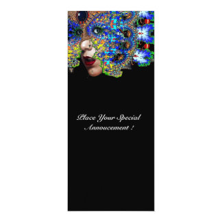 EPHEMERAL Mardi Gras Masquerade Ball ,Blue Mask Card