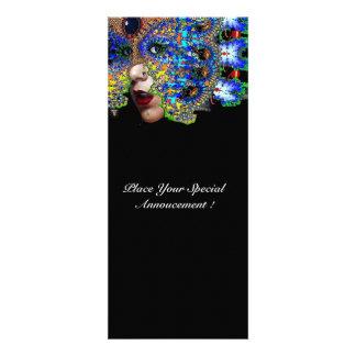EPHEMERAL Mardi Gras Masquerade Ball Blue Mask Personalized Announcements