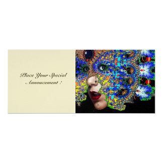 EPHEMERAL masquerade costume  ball  champagne 10 Cm X 24 Cm Invitation Card