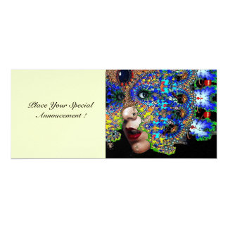 EPHEMERAL masquerade costume ball  white ice 10 Cm X 24 Cm Invitation Card