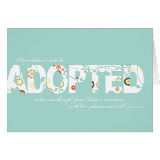 Ephesians 1:5 Adoption Verse: Floral Note Card