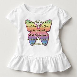 Ephesians 2:10, Bible Verse Butterfly Toddler T-Shirt