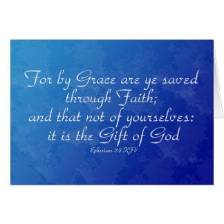 Ephesians 2:8 Inmate Greeting Card