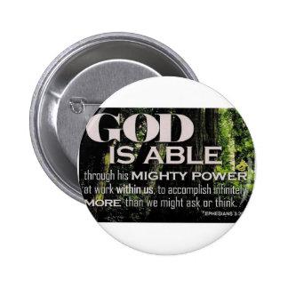 Ephesians 3:20 6 cm round badge