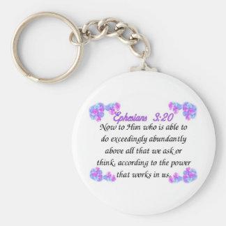 Ephesians 3:20 key ring