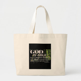 Ephesians 3:20 large tote bag