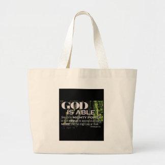 Ephesians 3:20 jumbo tote bag