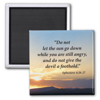 Ephesians 4:26-27 square magnet