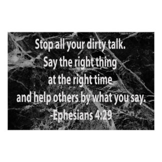 Ephesians 4:29 poster