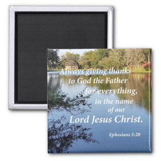 Ephesians 5:20 magnet