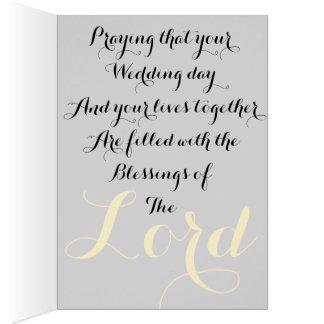 Ephesians 5:28 and  1John 4:19 wedding card