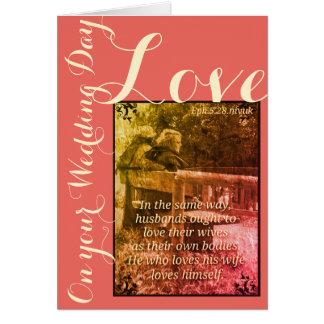 Ephesians 5:28 wedding card coloured