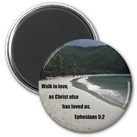 Ephesians 5:2 6 cm round magnet