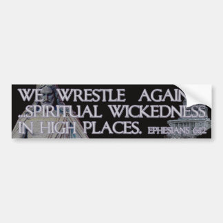 Ephesians 6:12 Bible Quotation Bumper Sticker