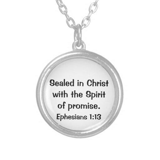 Ephesians Bible Scripture Necklace