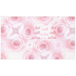 Ephesians Chapter 5 And walk in love Tablecloth