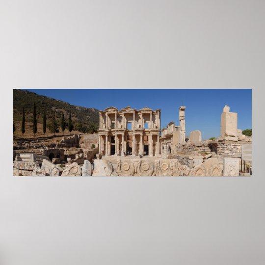 Ephesus Library Poster