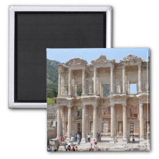 Ephesus Library Square Magnet
