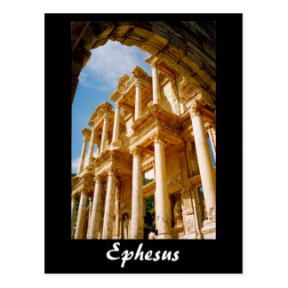 ephesus library turkey post card