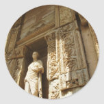 Ephesus Turkey - Celsius library at Ephesus Round Sticker