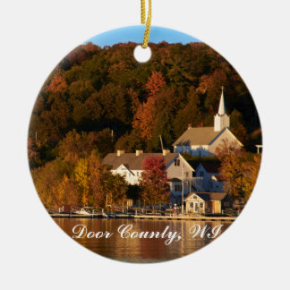 Ephraim, Wisconsin at Sunset Christmas Ornament