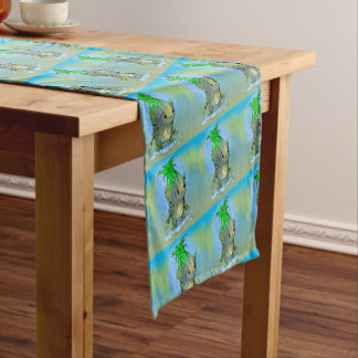"EPI CORN ALIEN CARTOON 14"" X 72"" Table Runner"