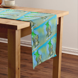 "EPI CORN ALIEN CARTOON 16"" X 108"" Table Runner"