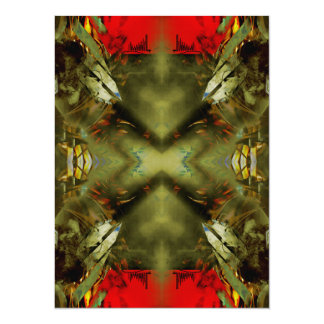 EPIC ABSTRACT ST1 TEN 14 CM X 19 CM INVITATION CARD
