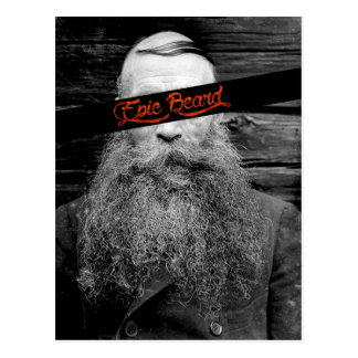 Epic beard postcard