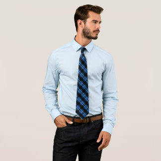 Epic Blue Clouds Fantasy Satin Stripe Tie
