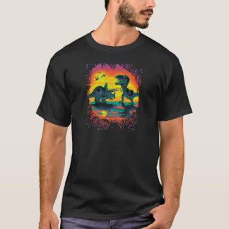 EPIC DINOSAUR BATTLE at Prehistoric Dawn T-Shirt