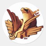 Epic Eagle Design #1 Round Sticker