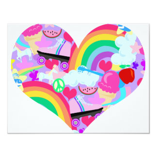 Epic Eighties Explosion Heart Card