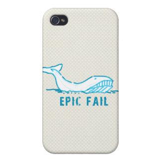 Epic Fail Whale iPhone 4/4S Cases